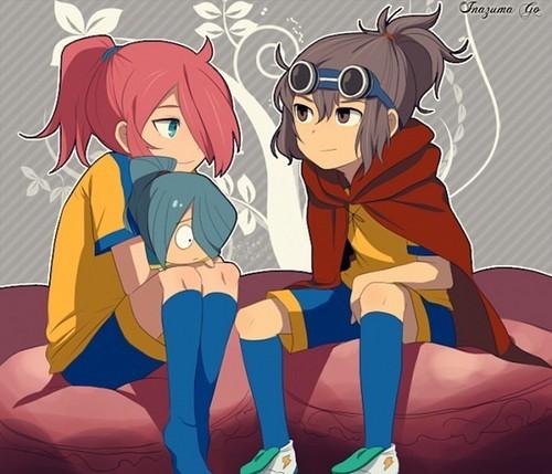 Shindou/Kidou and Ranmaru/Kazemaru