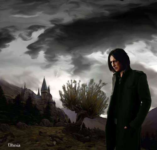 Severus Snape Hintergrund with a business suit entitled Snape Fanart