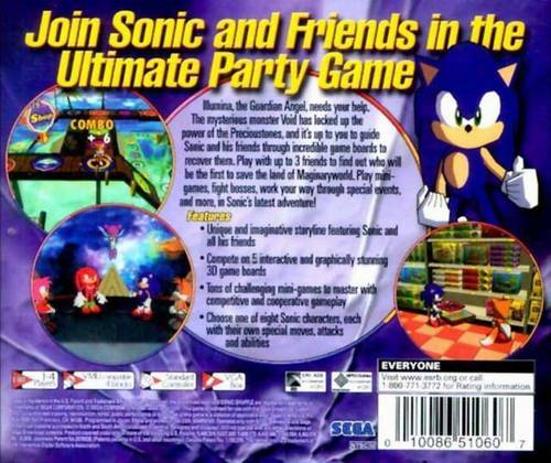 Sonic Shuffle (back cover)