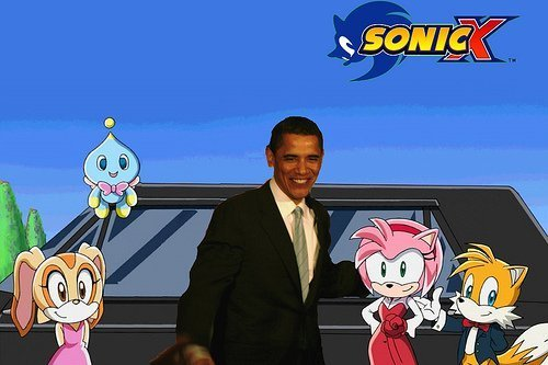 Sonic X Photo With Obama! - barack-obama Photo