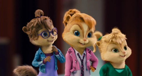Alvin and the Chipmunks 3: Chip-Wrecked वॉलपेपर probably containing a portrait entitled The Chipmunks and The Chipettes