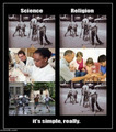 The Difference Between Science and Religion - atheism photo