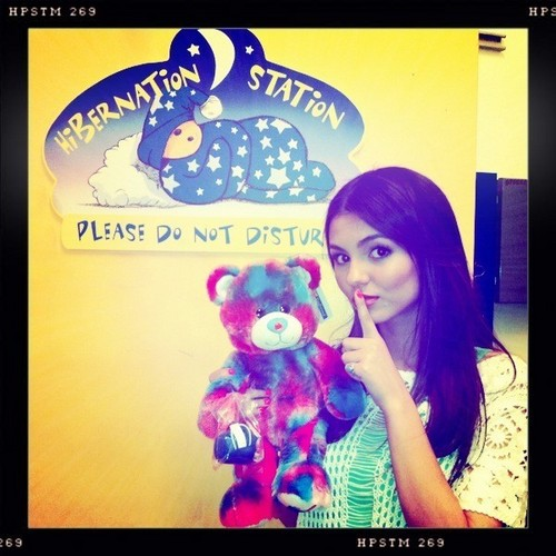 Victoria Justice wallpaper possibly with anime titled Victoria Justice- Build-a-Bear