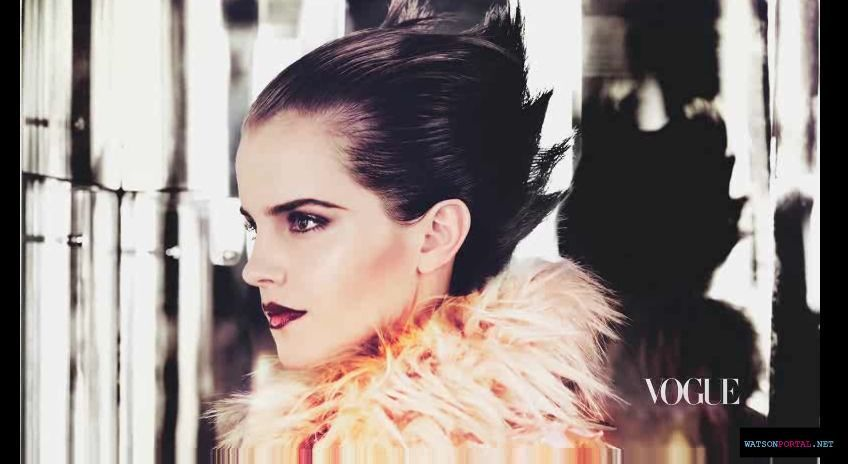 emma watson vogue 2011 us. Vogue US 2011-Behind the