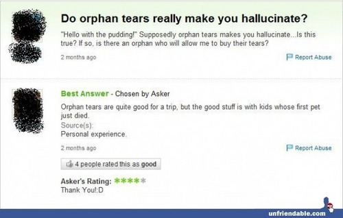 Yahoo Answers FAILS!