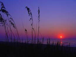 sunset at myrtle пляж, пляжный