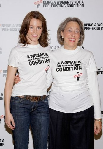 "Feminism Обои containing a jersey and a portrait entitled ""Pre-Existing Condition"" Campaign Launch"