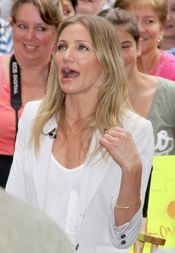 "Actress Cameron Diaz appears on ""Good Morning America"" in New York City."