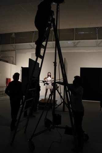 Adriana Lima shooting for foros S/S 2012 (June 16)