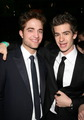 Andrew Гарфилд and Rob Pattinson