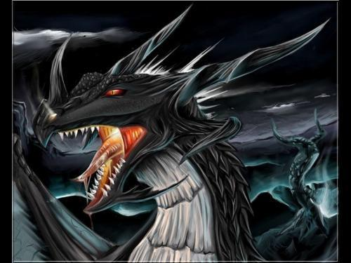 Dragons wallpaper probably containing anime called Black Dragon