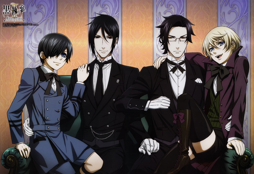 Black Butler wallpaper possibly containing a business suit and a well dressed person called Black butler