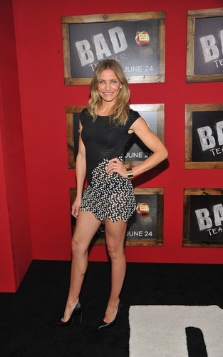 """Cameron Diaz and Justin Timberlake premiering their movie """"Bad Teacher"""" in NYC (June 20)."""