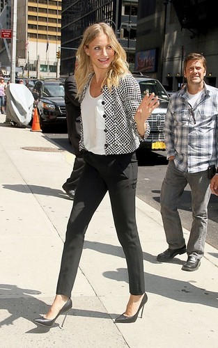 """Cameron Diaz arriving at """"The Late Show"""" (June 20)."""