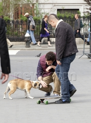 """Cory Monteith On the Set of """"New York"""""""
