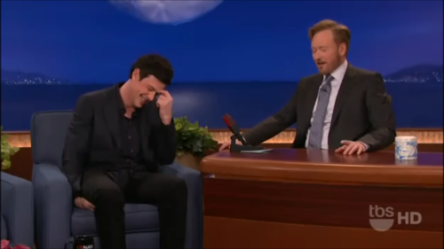 Cory Monteith fond d'écran with a business suit, a suit, and a well dressed person titled Cory Monteith on Conan 02/24/11