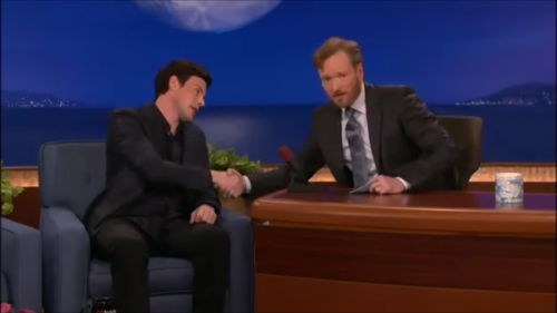 Cory Monteith fond d'écran with a business suit and a suit titled Cory Monteith on Conan 02/24/11