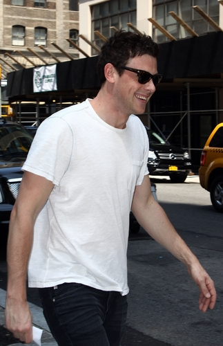 Cory Monteith wallpaper with a street called Cory Monteith out the Soho Hotel, New York - June 16, 2011