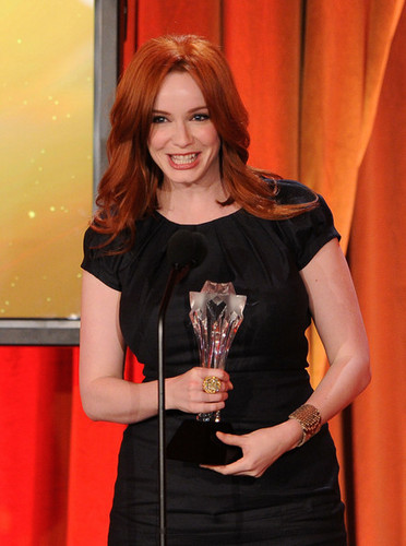 Christina Hendricks wallpaper possibly with a brasserie and a business suit entitled Critics' Choice Television Awards