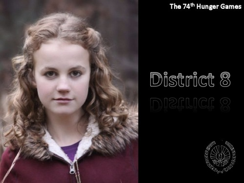 The Hunger Games Movie wallpaper with a portrait entitled District 8 Tribute Girl