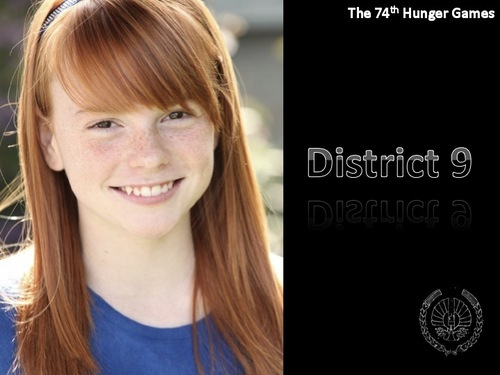 The Hunger Games Movie wallpaper with a portrait titled District 9 Tribute Girl