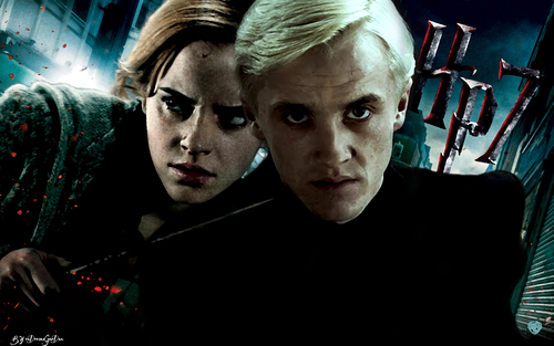 Draco and Hermione deathly hallows