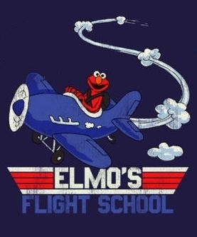 Elmo meets top, boven Gun