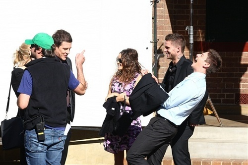 Filming Home & Away - June 7th, 2011