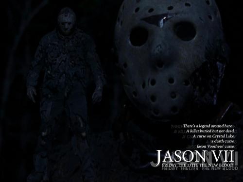 Jason Voorhees Hintergrund entitled Friday the 13th Part 7