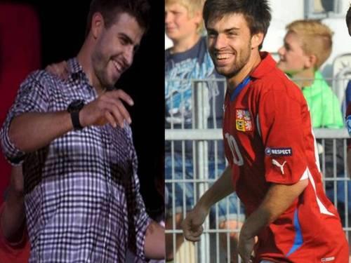 Gerard Piqué and czech footballer Jan Moravek are look alike