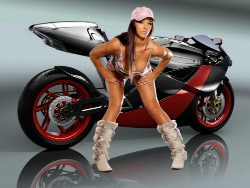 HOT GIRL & MOTORCYCLE