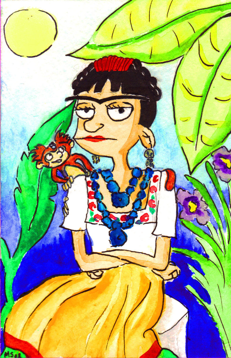 hey arnold! images helga as frida kahlo hd wallpaper and background