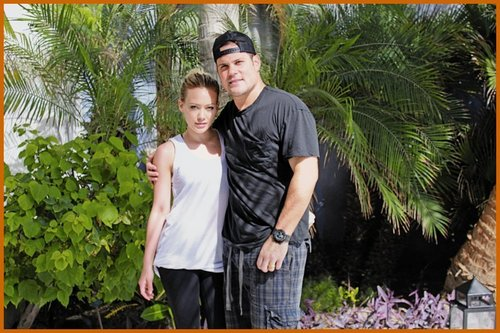 Hilary Duff & Mike Comrie 바탕화면 probably with a royal palm, a conservatory, and a mahogany entitled Hilary Duff & Mike Comrie Honeymoon 사진