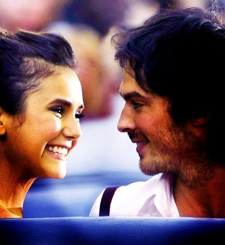 Ian Somerhalder and Nina Dobrev wallpaper probably with a portrait entitled Ian/Nina ღ