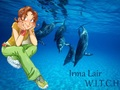 Irma Lair swiming whit the dolpins
