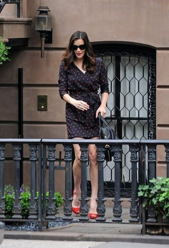Liv Tyler leaves her downtown home.