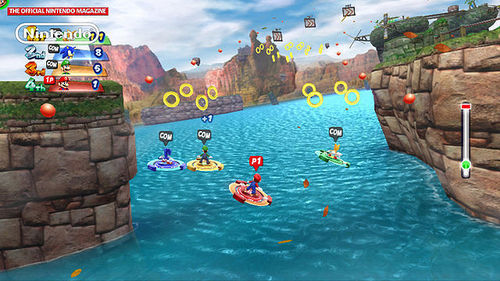 Mario, Sonic and others kayaking