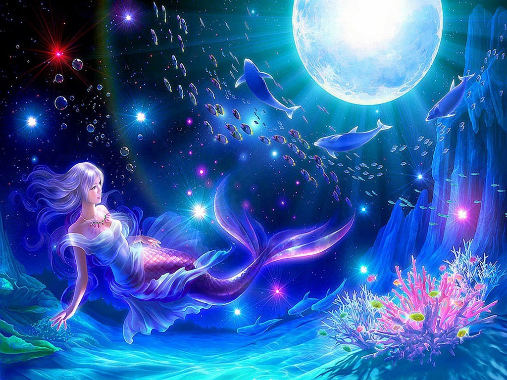 mermaid wallpaper daydreaming wallpaper 23075750 fanpop