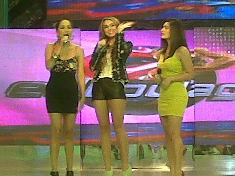 Miley Cyrus wallpaper probably containing a maillot, a leotard, and a swimsuit called Miley - At Eat Bulaga in Manila, Philippines (June 16th, 2011)