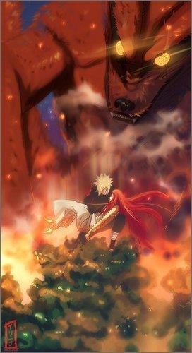 Minato saving Kushina x3
