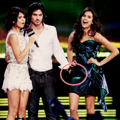 Ian Somerhalder and Nina Dobrev wallpaper titled Much Music Video Awards