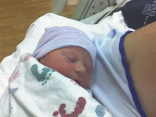 My precious baby boy, Peyton Reid born today! <3