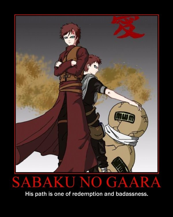 motivational pictures images Naruto Motivational Poster HD ... Gaara And Naruto Kids