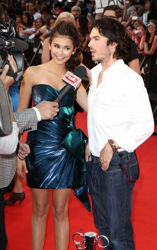 Nina Dobrev and Ian Somerhalder turned up for the 2011 MuchMusic Video Awards in Toronto, Canada on