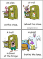 Prepositions of place - english-language photo
