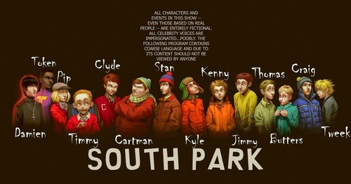 South Park Hintergrund called REAL LIFE Anime SOUTH PARK