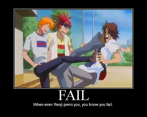 Renji Abarai Motivational poster