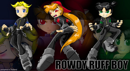 The RowdyRuff Boys wallpaper with anime entitled Rowdyruff boys in ppgd
