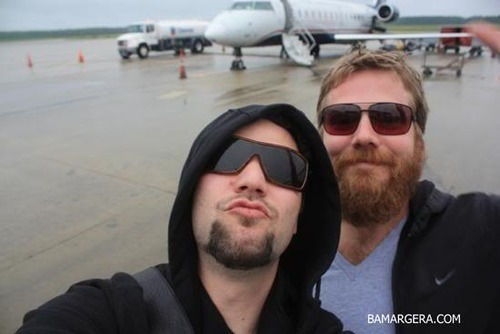 Ryan Dunn wallpaper containing sunglasses entitled Ryan Dunn with Bam Margera 2