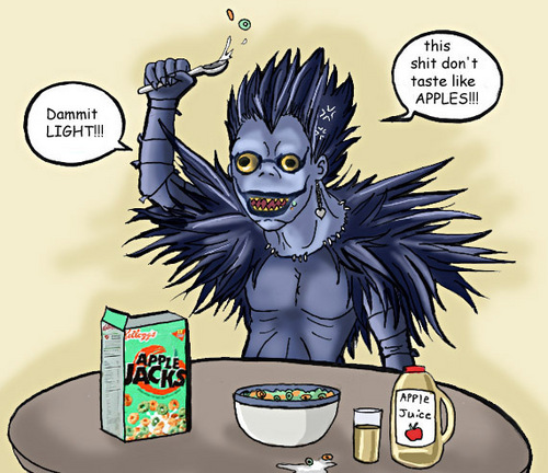 Ryuk only likes real apples